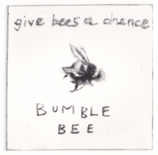 Give bees a chance, 2013. Drypoint edition of 50.
