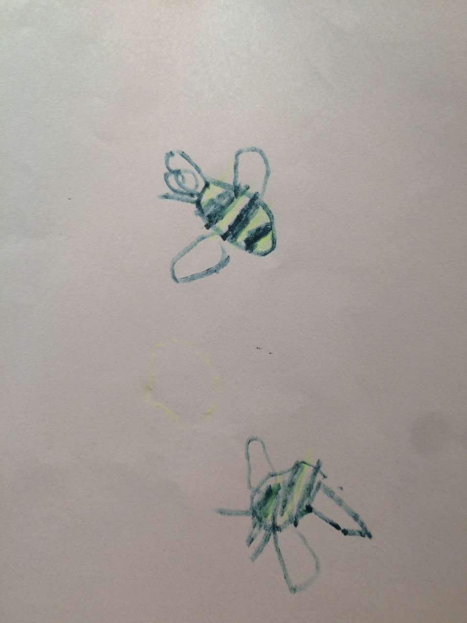 Bees, inspired by our Kurt Jackson exhibition, by Noah, aged 5